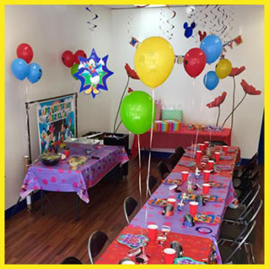 birthday party set up