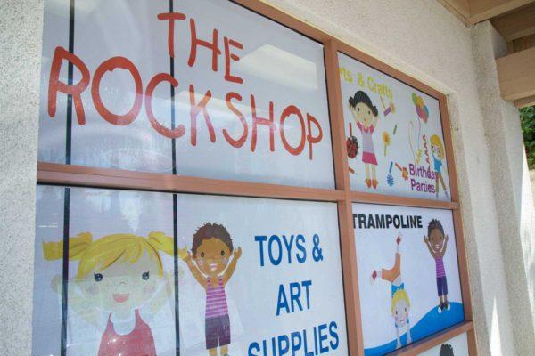 Rock Shop exterior signage