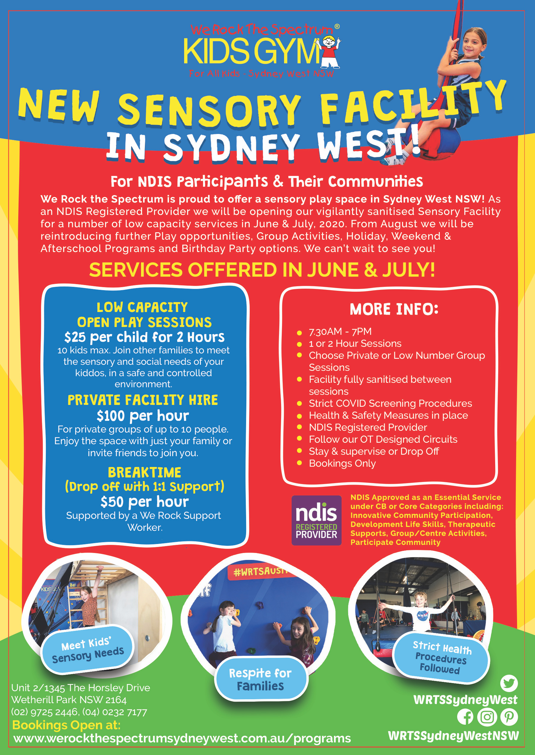 Sydney West Private Facility Hire Flyer May 2020 2